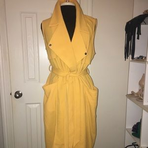 Yellow Trench Duster Vest
